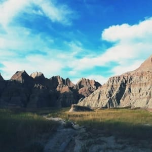 Photo from within the Badlands, One of the Most Popular South Dakota Attractions.