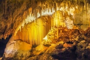 Photo of Dazzling Stalactites in Jewel Cave, One of the Two Best Caves in South Dakota.